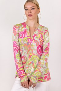 Etro Multicoloured Printed Long Sleeved Top / Size: 42 IT - Fit: XS