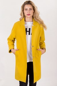 Say Yellow Oversized Coat / Size: 40 IT - Fit: S / M
