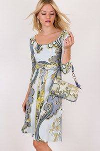 Emilio Pucci Multicoloured Dress with Small Bag / Size: 38 IT - Fit: XS / S