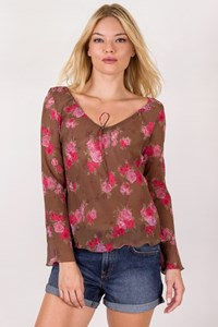Max+Co Floral Multicoloured Transparent Blouse / Size: 42 IT - Fit: S