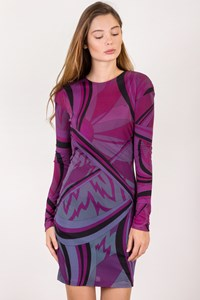 Emilio Pucci Multicoloured Dress with Open Back / Size: 40 IT - Fit: XS