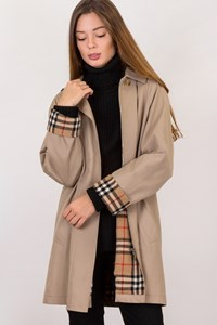 Burberry Beige A-line Trench / Size: ? - Fit: S
