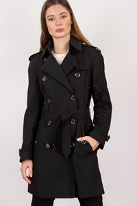 Burberry Black Detachable Hood Trench Coat / Size: 6 UK - Fit: ΧS