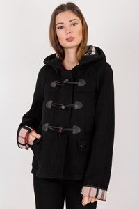 Burberry Brit Black Wool Short Coat / Size: 8 UK - Fit: XS