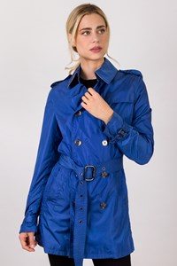 Burberry London Electric Blue Lightweight Trench Coat / Size: 10 UK - Fit: S