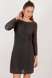 DVF Grey Crochet Dress / Size: 6 US - Fit: S