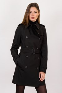 Burberry London Black Classic Trench Coat / Size: 6 UK - Fit: XS