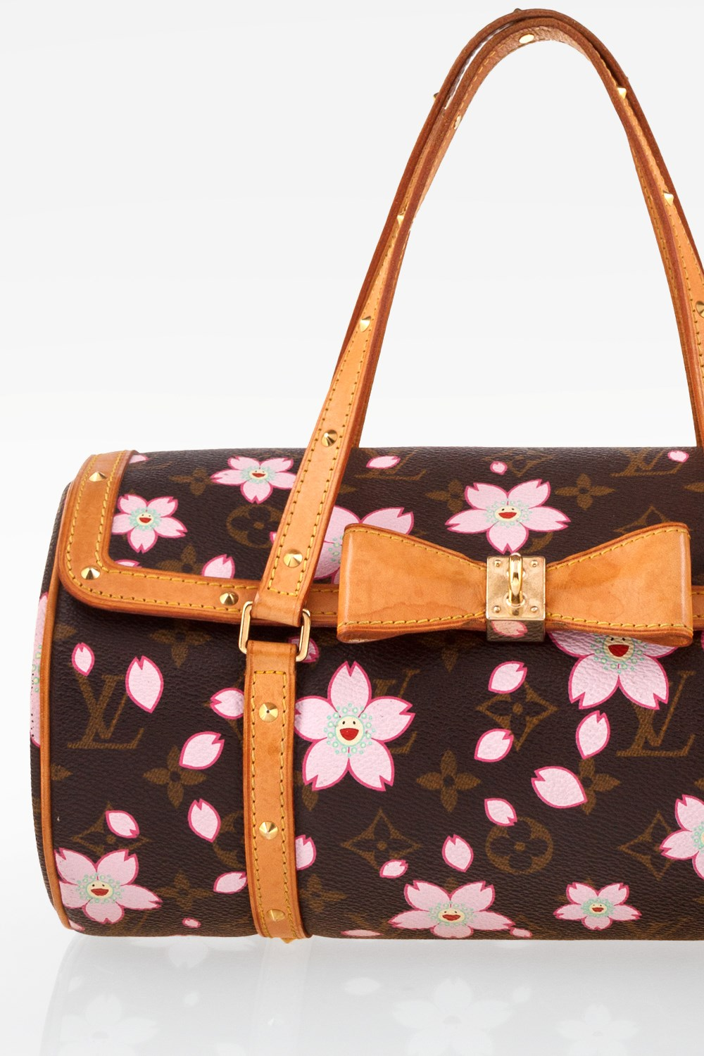 11f416e1e53b Brown Monogram Canvas Limited Edition Cherry Blossom Papillon Bag ...