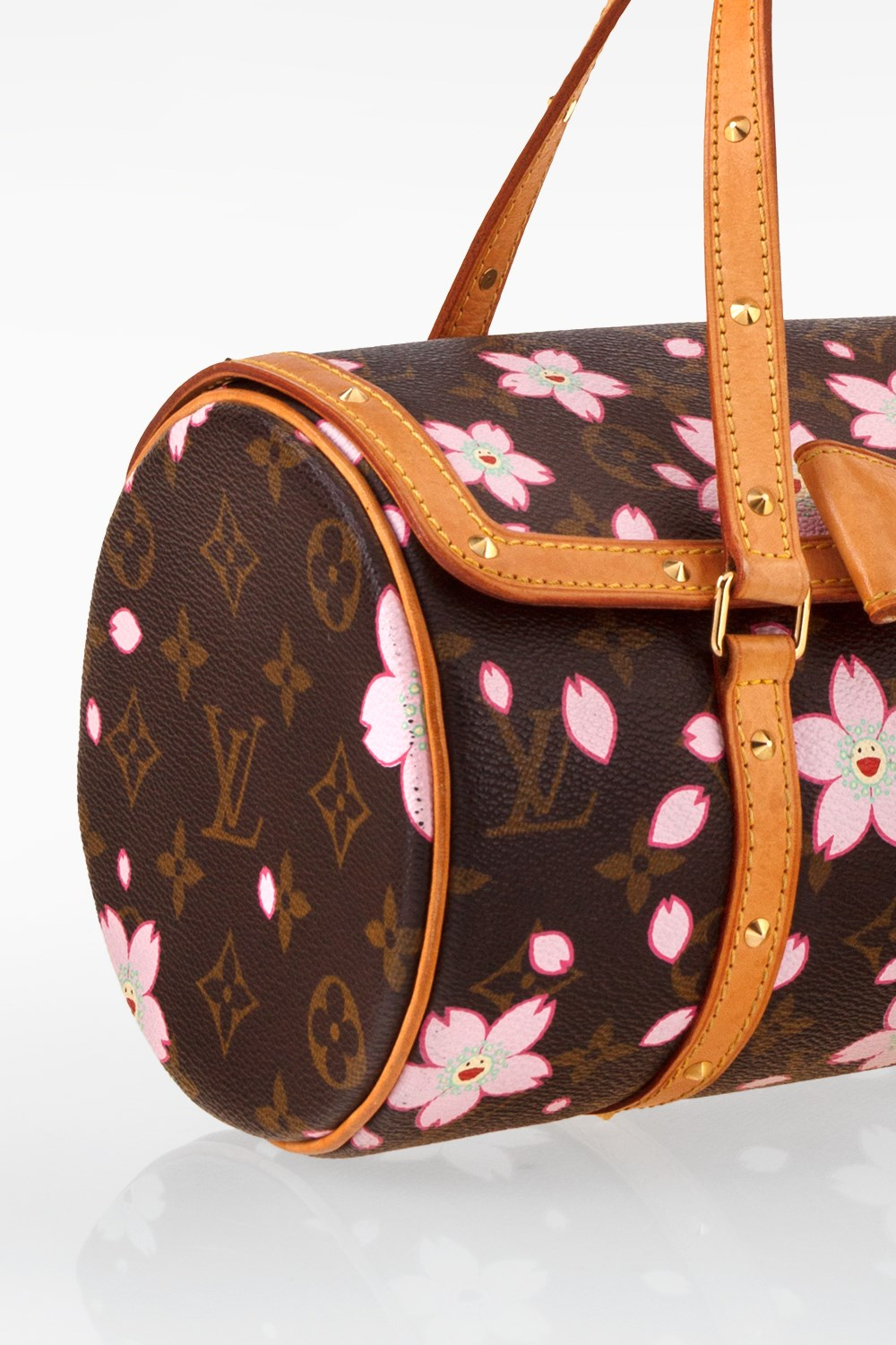 5aa9213697a8 Brown Monogram Canvas Limited Edition Cherry Blossom Papillon Bag ...