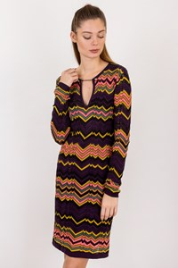 M Missoni Multicoloured Crochet Straight Line Dress / Size: 40IT - Fit: XS