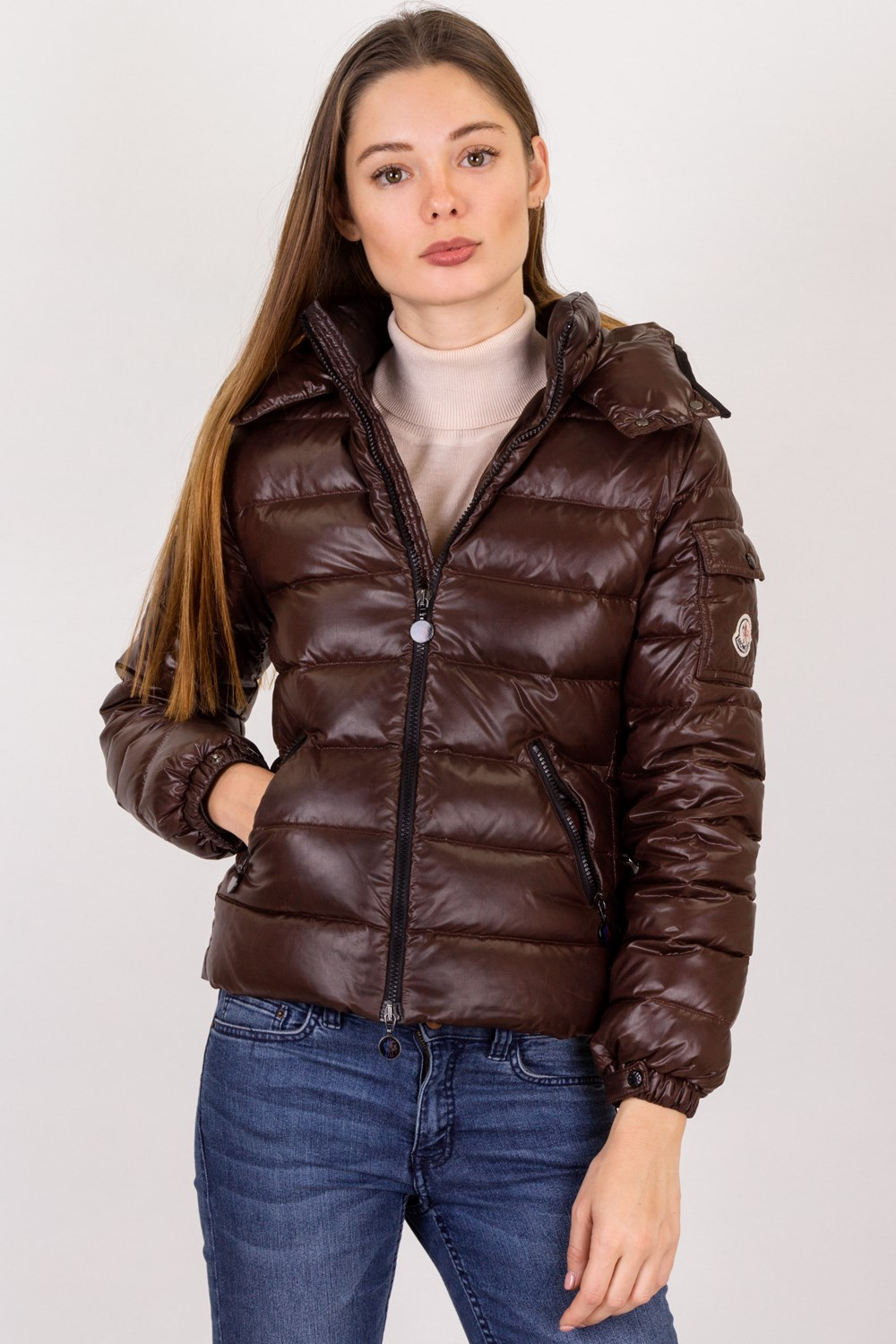 96379562a703 Brown Puffer Down Jacket   Size  12 ans - Fit for adults  XS, Jackets,  Outerwear, Clothing, Starbags Products, Starbags.gr
