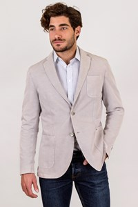 L.B.M. 1911  Limited Edition Light Grey Cotton and Linen Blazer / Size: 50L - Fit: True to size