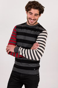 Moschino Striped Wool Jumper / Size: 50 - Fit: M
