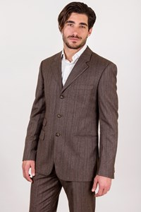 Versus Brown Striped Wool Suit / Fit: M
