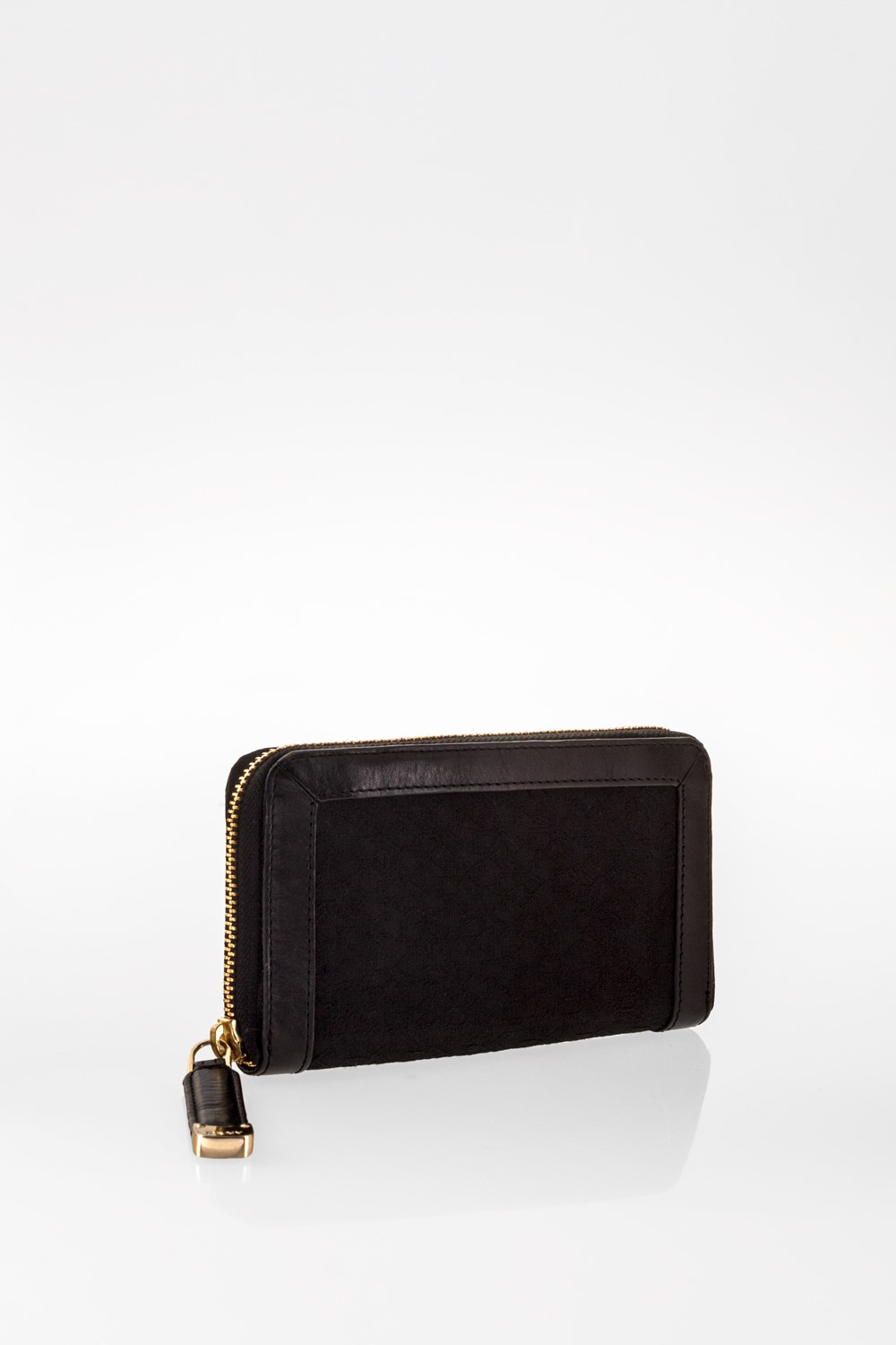Black Logo Canvas and Leather Wallet  1b4ed9131b804