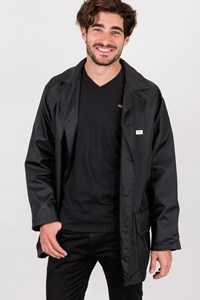 Gianfranco Ferre Black Nylon Windbreaker Jacket / Size: L - Fit: M / L