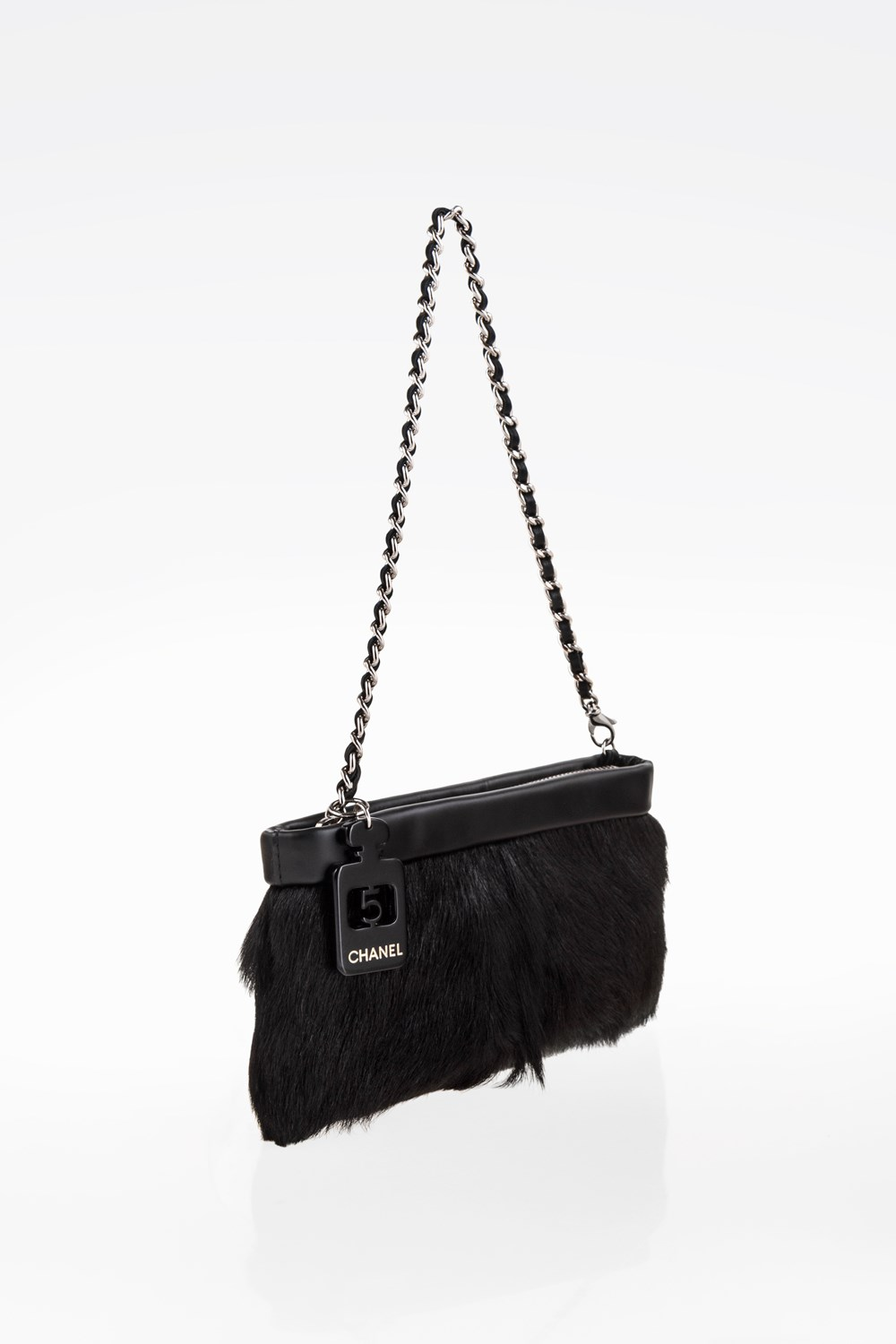 a1479d99278c Black Pony Hair and Black leather Clutch