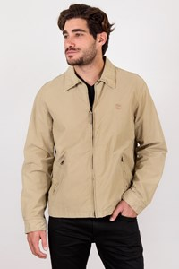 Timberland Weathergear Beige Cotton Lightweight Jacket / Size: L - Fit: M / L