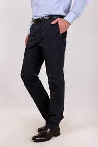 Lanvin Blue Brushed Cotton Pants / Size: 52 - Fit: True to size