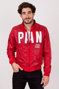 Aeronautica Militare Red Windbreaker Jacket with Logo / Size: 50 - Fit: M