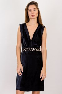 Cacharel Blue Velvet Sleeveless Dress / Size: ? - Fit: S
