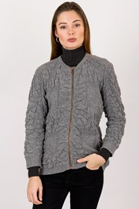 MCQ Grey Knitted Wool Cardigan / Size: L - Fit: S