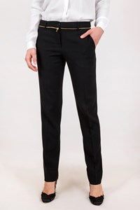 Moschino Black Pants with Decorative Zipper / Size: 44 IT - Fit: M