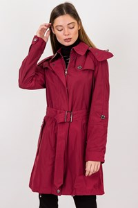 Burberry Brit Magenta Lightweight Trench Coat / Size: 10 UK - Fit: S