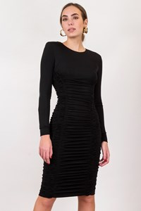 Max Mara Black Draped Jersey Dress / Size: 8 UK - Fit: S