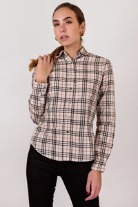 Burberry London Classic Check Printed Cotton Shirt / Size: L - Fit: S / M