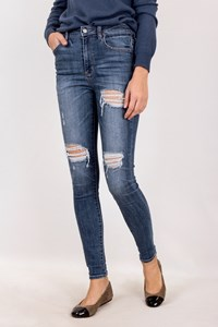 American Eagle Outfitters Blue Distressed Skinny Jeans / Size: 4 US - Fit: XS