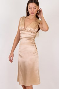 Versus Versace Gold Satin Dress / Size: 38 IT - Fit: XS