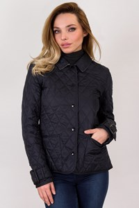 Burberry Blue Quilted Lightweight Jacket / Size: S - Fit: XS / S