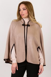 Calvin Klein Beige Knitted Cape / Size: One size