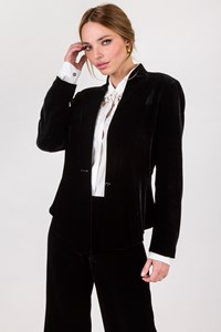 Dream Black Velvet Pantsuit / Size: 42 IT - Fit: S / M
