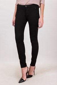 Tommy Hilfiger Black Elasticated Straight Pants / Size: 8 - Fit: S