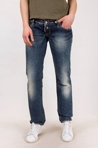 Dsquared2 Blue Straight Distressed Jeans / Size: 46 IT - Fit: M