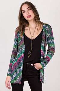 Missoni Multicoloured Zig-Zag Cardigan with Buttons / Size: 42 IT - Fit: S