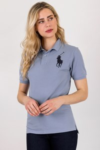 Polo Ralph Lauren Light Blue Pique Polo Top / Size: L - Fit: M