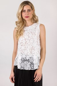 Ermanno Scervino White Lace Top / Size: 42 IT - Fit: S