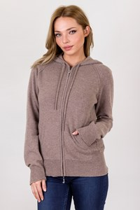 Juicy Couture Beige Cashmere Hoodie / Size: XL - Fit: M