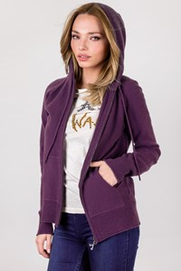 Juicy Couture Purple Cashmere Hoodie / Size: XL - Fit: M