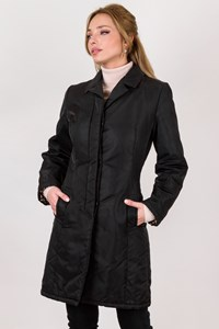 Dolce & Gabbana Black Nylon Overcoat / Size: 38 - Fit: XS / S