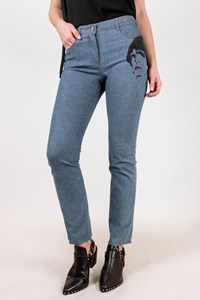 Chloé Light Blue Campanule Jeans with Print
