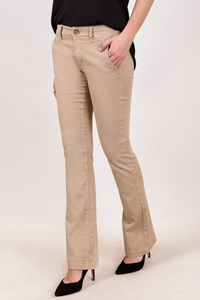 American Eagle Outfitters Beige Elasticated Cotton Flared Pants / Size: 10 UK - Fit: S