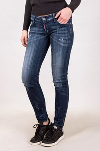 Dsquared2 Blue Distressed Jeans with Zippers / Size: 40 IT - Fit: XS