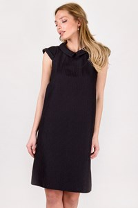 Burberry Black Textured Dress with Collar / Size: 38 IT - Fit: S