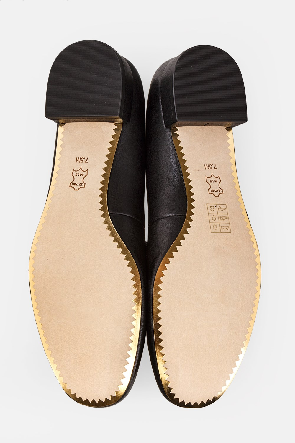 21e2b78d7bfc Black Leather Chelsea Heeled Ballet Flats / Size: 7.5 M (37.5) - Fit: 38,  Pumps, Low Heeled, Shoes, Starbags Products, Starbags.gr