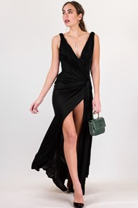 Gianni Versace Black Open-side Maxi Dress / Size: 42 IT - Fit: S