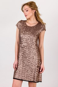 Laleh Fayaz Bronze Sequin Dress  / Size: ? - Fit: XS / S